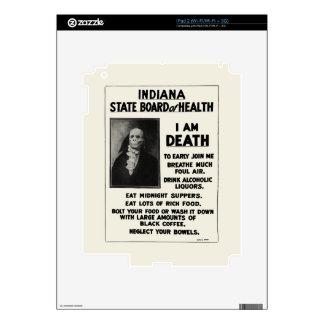 Boletín 1912 de la salud de Indiana Calcomanía Para El iPad 2