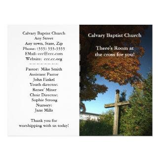 Boletín de la iglesia personalizar tarjetón