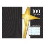 Boletín del aniversario de la iglesia de 100 años tarjetón