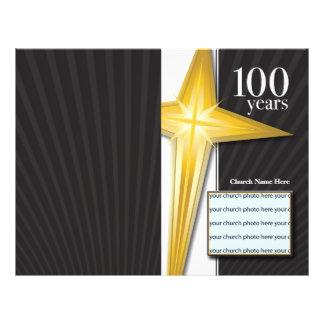 """Boletín del aniversario de la iglesia de 100 años folleto 8.5"""" x 11"""""""