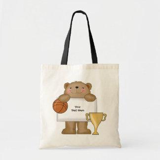 Boletín del oso del baloncesto (personalizable)