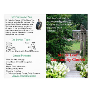 Boletín semanal adaptable de la iglesia (afuera so membrete personalizado