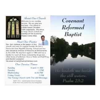 Boletín semanal adaptable de la iglesia (afuera so plantillas de membrete