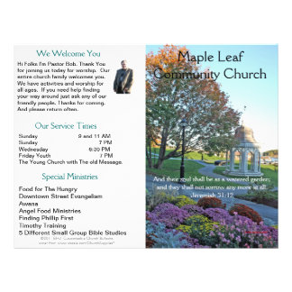 Boletín semanal adaptable de la iglesia (afuera so membrete a diseño