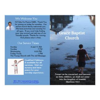 Boletín semanal adaptable de la iglesia (afuera so membretes personalizados