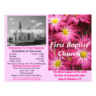 Boletín semanal adaptable de la iglesia (afuera so membrete