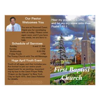 Boletín semanal adaptable de la iglesia (afuera so plantilla de membrete