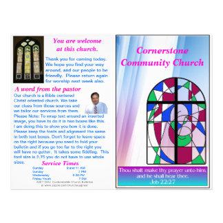 Boletín semanal adaptable de la iglesia (espacio e plantilla de membrete