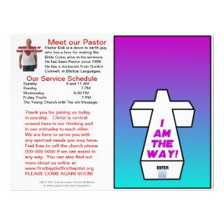 Boletín semanal adaptable de la iglesia (espacio e membrete