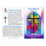 Boletín semanal adaptable de la iglesia (espacio e membretes personalizados