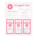 Boletines de notas del mascota - rosa tarjetas publicitarias