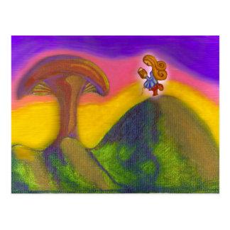 Boleto a un mundo de fantasía tarjeta postal