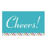 Boleto azul de la bebida de la celebración de días tarjetas de visita