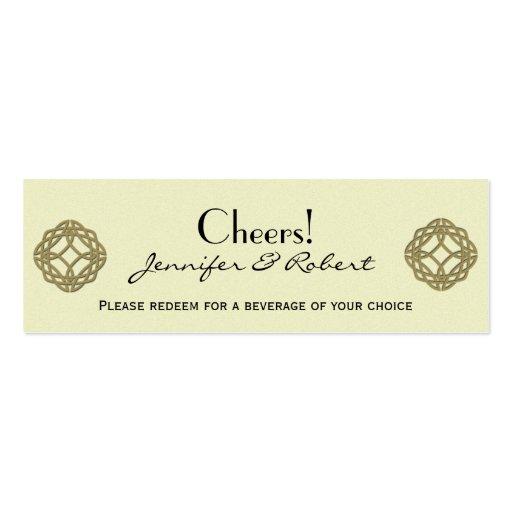 Boleto céltico de la bebida del boda del nudo de l plantillas de tarjetas personales
