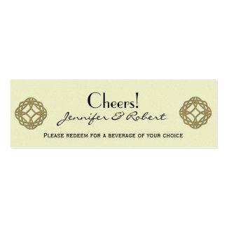 Boleto céltico de la bebida del boda del nudo de tarjetas de visita mini