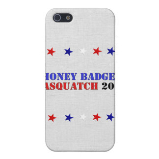 BOLETO DE BADGER/SQUATCH iPhone 5 FUNDA