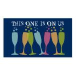 Boleto de cristal de baile de la bebida del aconte tarjetas de visita