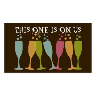 Boleto de cristal de baile de la bebida del tarjetas de visita
