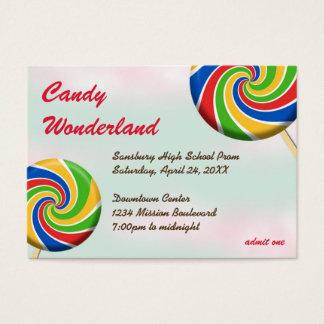 Boleto de encargo de la admisión del baile de fin tarjetas de visita grandes
