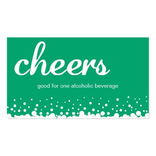 Boleto de encargo de la bebida de la barra de la a tarjetas de visita