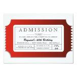 Boleto de la admisión al fiesta comunicados personalizados