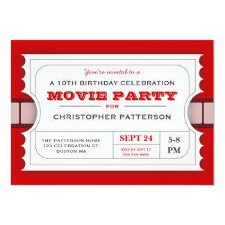 """Boleto de la admisión de la fiesta de cumpleaños invitación 5"""" x 7"""""""