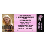 Boleto de la admisión del VIP de la mascarada de Invitación 10,1 X 23,5 Cm