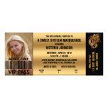 Boleto de la admisión del VIP de la mascarada del  Comunicados Personalizados