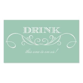 Boleto de la bebida del boda del remolino de la