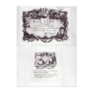 Boleto de la entrada para la bola en Versalles Impresion En Lona