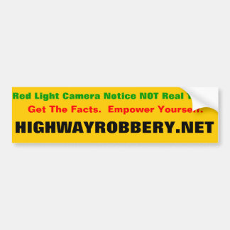 Boleto de la luz roja pegatina para auto