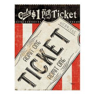 Boleto de la película del vintage tarjeta postal