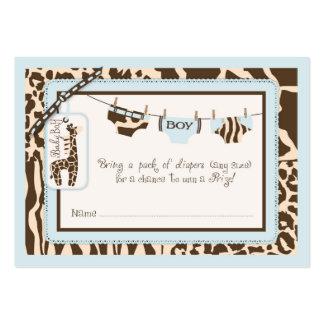 Boleto de la rifa del pañal de la cuerda para tarjetas de visita grandes