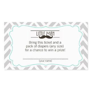 Boleto de la rifa del pañal de la fiesta de tarjetas de visita
