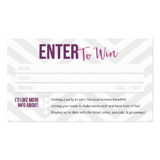 Boleto de la rifa/tarjetas de visita premiadas de tarjetas de visita