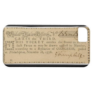Boleto de lotería temprano de la guerra de iPhone 5 carcasa