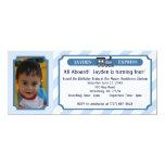 Boleto de tren de la foto - azul claro comunicado personal
