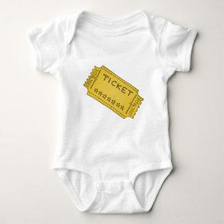 Boleto del cine del vintage body para bebé