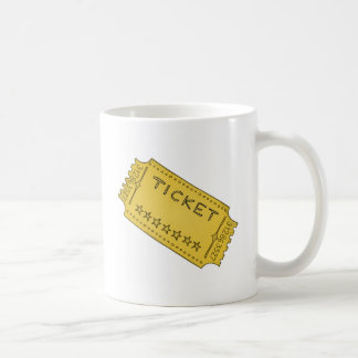 Boleto del cine del vintage taza de café