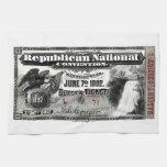 Boleto del convenio republicano 1892 toalla de cocina
