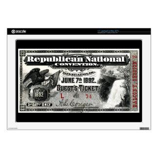 Boleto del convenio republicano 1892 portátil 43,2cm skin