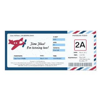 Boleto del documento de embarque del cumpleaños comunicados personales