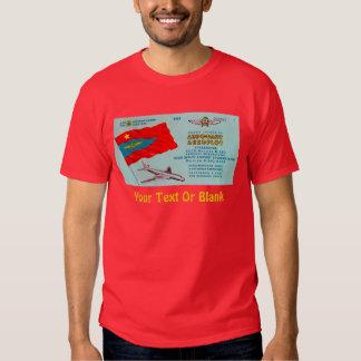 Boleto del pasajero de Aeroflot Playera