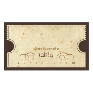Boleto del vintage - tarjeta del acompañamiento de tarjeta de visita