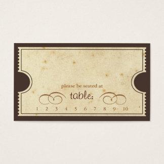 Boleto del vintage - tarjeta del acompañamiento de tarjetas de visita