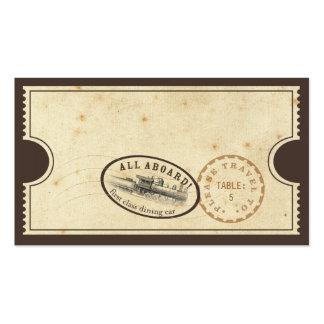 Boleto del vintage - tarjeta del acompañamiento tarjetas de visita