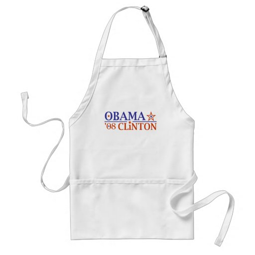 Boleto estupendo 2008 de Obama Clinton Delantales