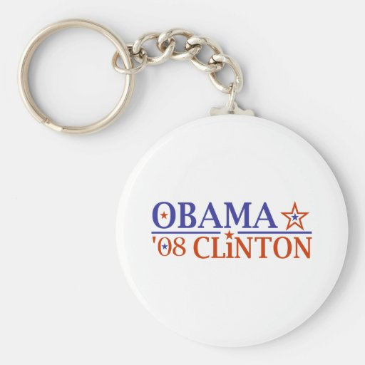 Boleto estupendo 2008 de Obama Clinton Llaveros Personalizados