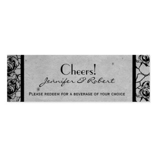 Boleto gótico color de rosa negro de la bebida del tarjetas de visita mini