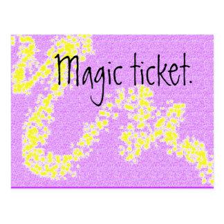 Boleto mágico - recurso de enseñanza postal